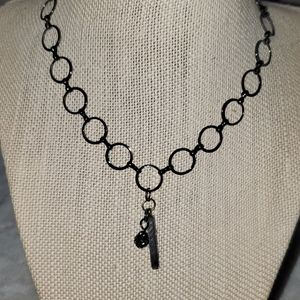 Bronze large chain with Blessed charm with crystal